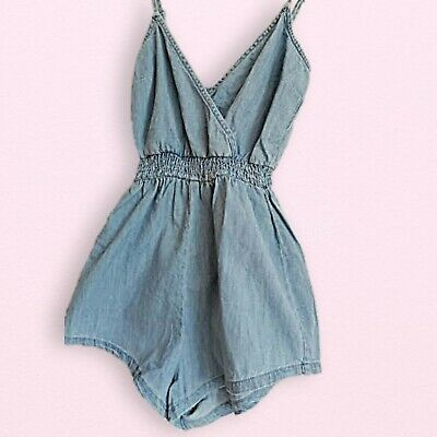 AU15 • Buy Bershka Denim Romper Xs