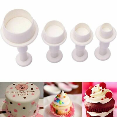 AU9.99 • Buy 4Pcs Fondant Cake Cutter Plunger Cookie Mold Sugarcraft Decor Mold DIY