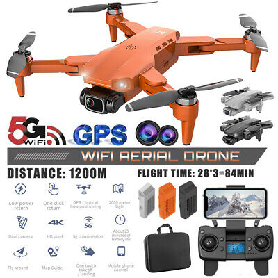 AU170.97 • Buy 5G 4K GPS Drone With HD Camera Drones WiFi FPV Foldable RC Quadcopter Batteries