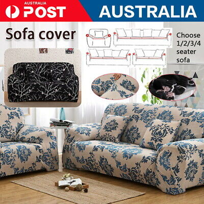 AU18.60 • Buy Sofa Covers 1/2/3/4 Seater High Stretch Lounge Slipcover Protector Couch Cover