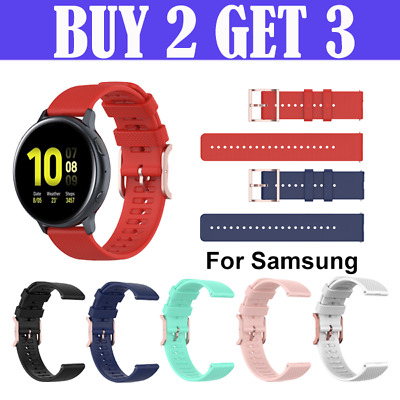 AU6.75 • Buy Samsung Galaxy Watch Band 42 46mm Watch 3 Active 2 Replacement Silicone Strap