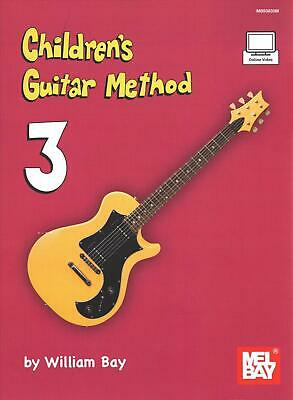 Children's Guitar Method Volume 3 By B.A.Y. WILLIAM (English) Paperback Book Fre • 24.99£