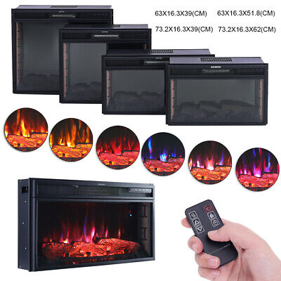 Wifi/Remote Control Electric Fire Fireplace 2KW 7LED FireHeater Wall/Inset Stove • 175.14£