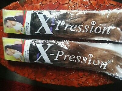 2X XPRESSION ULTRA HAIR FOR BRAIDING COLOUR 1B 100% Kanekalon • 8£