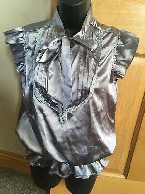 £2 • Buy Silver Shiny Top Size 8