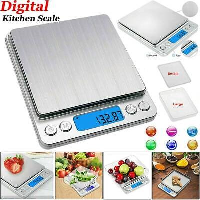 £11.99 • Buy Digital Kitchen Bowl Scales Stainless Steel Electronic LCD Cooking Weighing Food