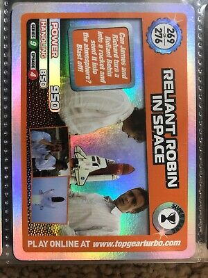 Top Gear Turbo Challenge Super Rare Reliant Robin In Space No 269 • 6£