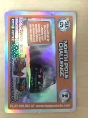 Top Gear Turbo Challenge Super Rare North Pole Challenge No 268 • 5£