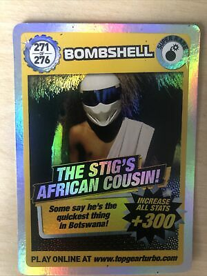 Top Gear Turbo Challenge Super Rare The Stigs African Cousin Card No 271 • 4.50£