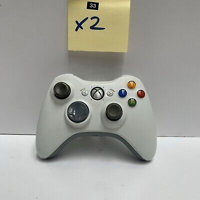 AU34.95 • Buy Wireless Genuine Xbox 360 Controller White Genuine - Has Battery Cover 🇦🇺 Ax33