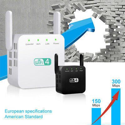 Wifi Signal Range Booster Repeater Wireless Router Network Extender 300Mbps UK • 11.59£