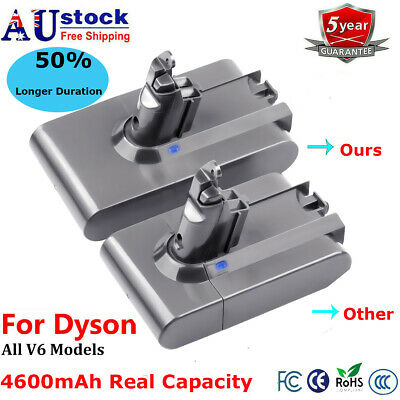 AU30.95 • Buy Real 4.6AH Battery For Dyson Absolute V6 DC58 DC59 DC61 DC62 DC72 DC74 BC683