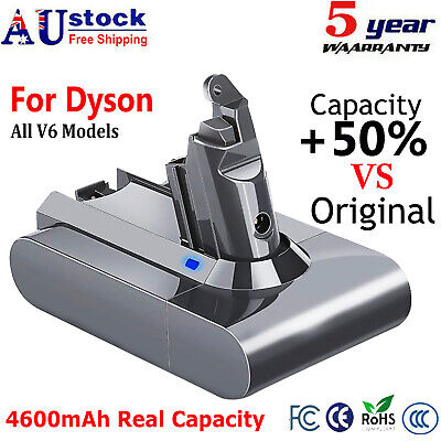 AU34.99 • Buy 4600mAh For Dyson All V6 Vacuum Cleaner Replacement Battery DC58 Animal,DC59