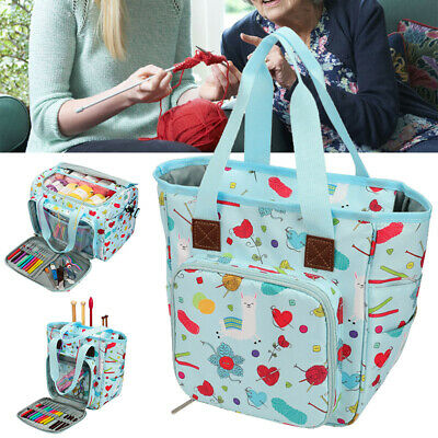 Crochet Hooks Thread Sewing Set Organizer Bags Knitting Yarn Storage Bag Case • 10.06£