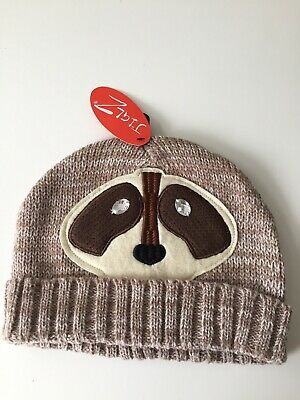 Fabulous Adults Novelty Racoon Design Knitted Ski Hat, One Size • 3£