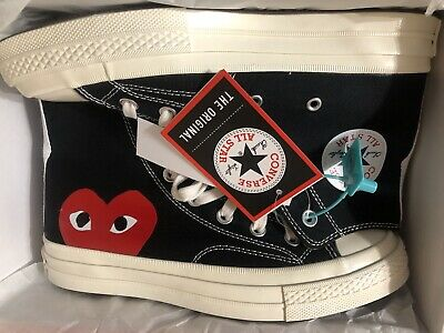 AUTHENTIC PLAY COMME DES GARCONS CONVERSE RED HEART Size UK 6 • 137£
