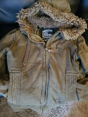 £28.39 • Buy American Eagle Outfitters AE Fur Lined Hooded JACKET COAT Mens Size Medium