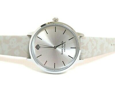 $ CDN94.42 • Buy Kate Spade Metro New Worker Watch, Stainless And Gray Print Leather, Ksw1669,nib
