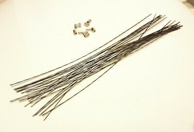 50 Security Wire(20cm) And Ferrules(6mm) For Electric Meter, Landlords Sealing • 8.50£