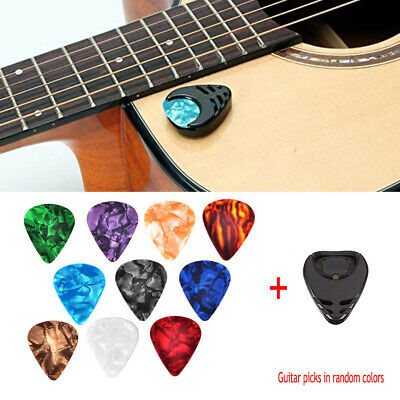 $ CDN8.03 • Buy 10pcs Guitar Picks Acoustic Electric Plectrums Celluloid Assorted Colors Holder