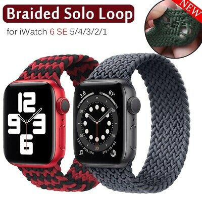 $ CDN8.51 • Buy 38/40/44MM Braided Solo Loop Nylon Band Strap For Apple Watch Series 6 5 4 3 SE