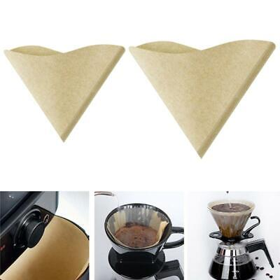 AU11.55 • Buy V60 Coffee Filters Paper 100Count Unbleached Natural Filter Paper For Pour Over