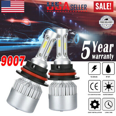 $14.48 • Buy 9007 HB5 LED Headlight Bulbs Conversion Kit High Low Beam Bulb Super White 6500K