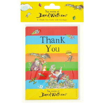 David Walliams Thank You Cards: Pack Of 8, Home Living, Brand New • 5£