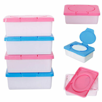 2PCS Wet Tissue Paper Case Care Baby Wipes Napkin Storage Box Holder Container • 5.08£