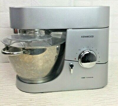 Kenwood Chef Titanium KM010 Silver 1400W Stand Mixer Machine Baking V962 • 256£