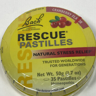 Rescue Remedy Pastilles By Bach Flower Remedies, 50 Gram Cranberry 1 Pack • 8.91£