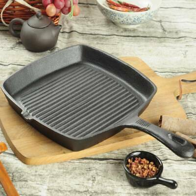 £20.92 • Buy Cast Iron Pre Seasoned Skillet Frying Pan Griddle BBQ Grill Non Stick Cookware