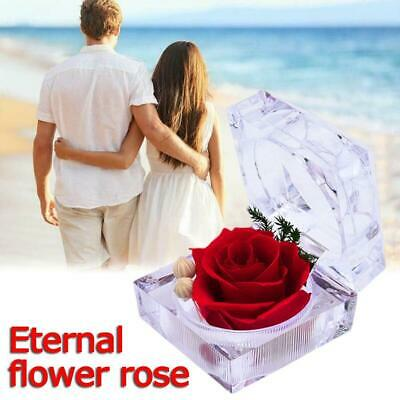 AU11.99 • Buy 1PC Eternal Preserved Rose Flower Clear Acrylic Crystal Valentine's Day Gift AU