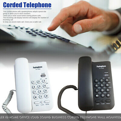 Hotel Caller ID Home/Office Loud Sound Business Corded Telephone Wall Mounted • 11.45£