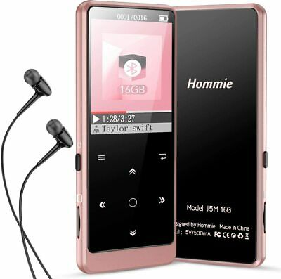 $29.99 • Buy Hommie Bluetooth 16GB MP3 Music Player & FM Hi-Fi Lossless Support Up To 128GB