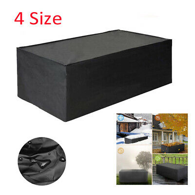 Heavy Duty Garden Patio Furniture Table Cover For Rattan Table Cube Set Outdoor • 11.42£