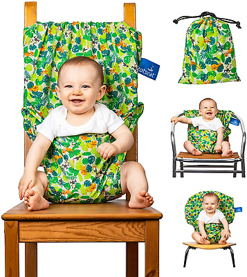 The Totseat Portable Travel High Chair Multi-Coloured Jungle Design | Toddler | • 31£