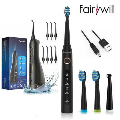 View Details Fairywill Oral Irrigator Water Flosser Electric Sonicare Toothbrush Rechargeable • 44.99$