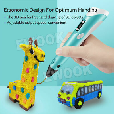 AU19.99 • Buy 3D Printing Pen Crafting Doodle Drawing Art Printer Modeling + 3 Pcs Free PLA