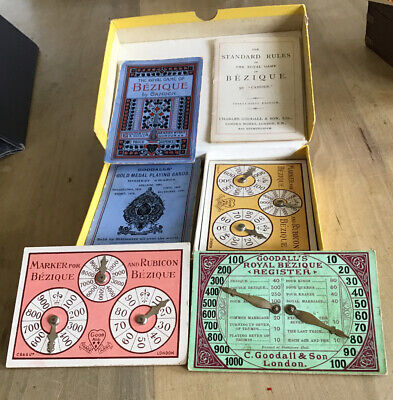 VINTAGE BEZIQUE & POLISH BEZIQUE With Playing Cards.Markers And Rules Both Games • 2.99£