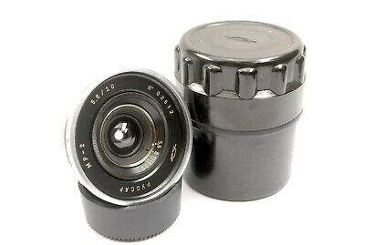 20mm F5.6 Russar MR-2 (MP-2) Ultra Wide Angle Lens In Leica L39 Screw LTM Mount • 299.99£