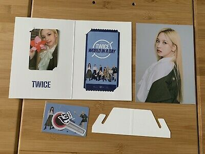Kpop Twice Official World In A Day Mina AR Photocard Ticket Set • 14.85£