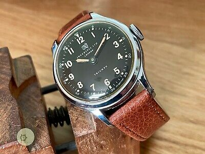Mens Fully Working Vintage INGERSOLL TRIUMPH Watch 5J GB Serviced RY BLACK DIAL • 80£