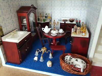 The Dolls House Emporium Traditional Kitchen Set, CABINET AND EXCCESSSORIES  • 39£