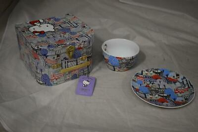 Hello Kitty Liberty Art Plate And Bowl In Case Unused • 4.99£