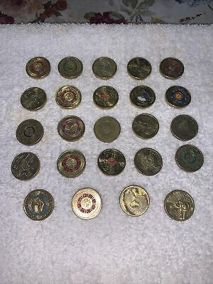 AU85 • Buy 24 Collectors Australian 2 Two Dollar Coins All Circulated Various Designs!!