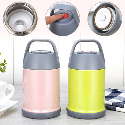 AU25.96 • Buy Vacuum Insulated Lunch Box Stainless Steel Jar Hot Thermos Food Container 560ML