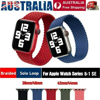 AU12.99 • Buy Nylon Braided Solo Loop Strap Band For Apple Watch Series 6 SE 5 4 3 2 40 / 44mm