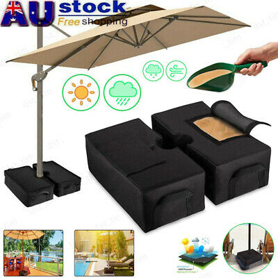 AU20.89 • Buy Parasol Base Stand Weights Umbrella Sand Bag Hanging Cantilever Heavy Duty Black