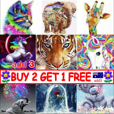 AU12.59 • Buy 5D Full Drill Diamond Painting Embroidery Cross Stitch Kits Art Decoration TT AU